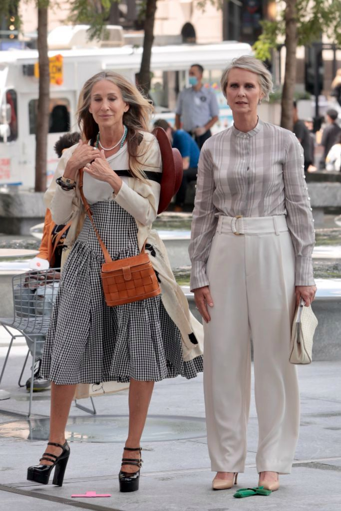and just like that carrie bradshaw celine mary jane pumps