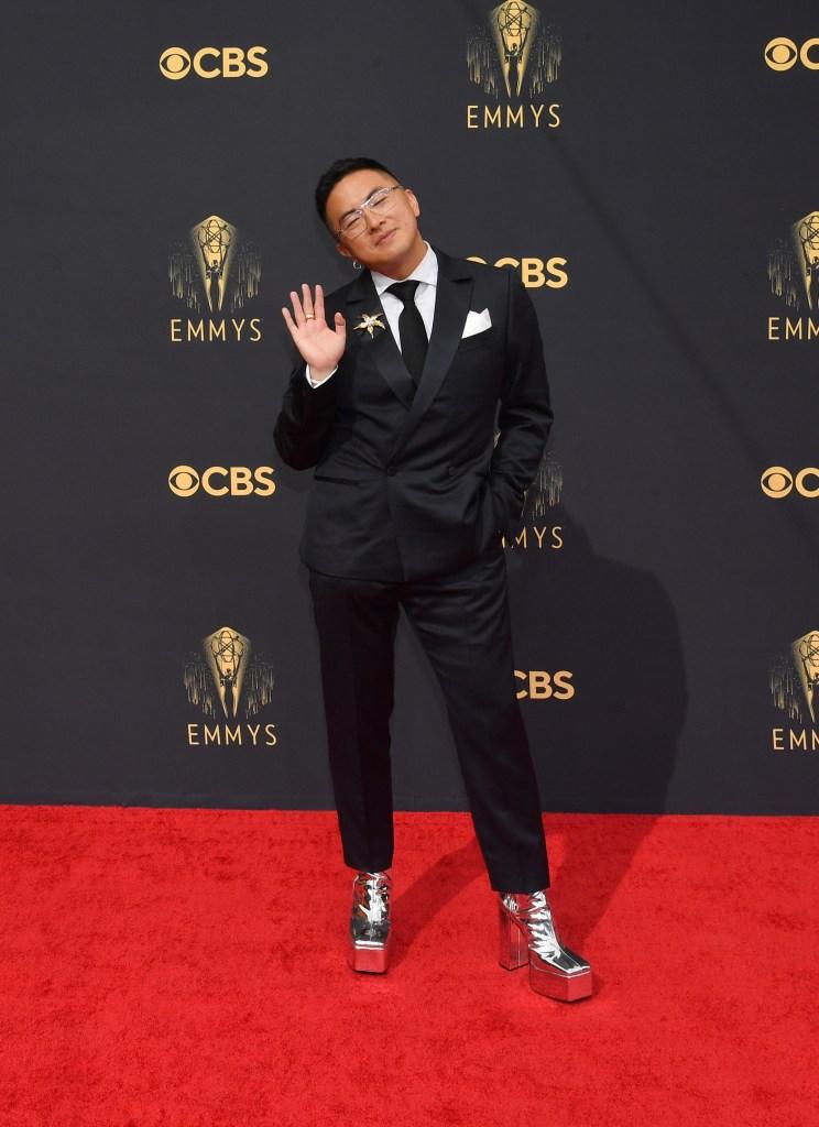Bowen Yang at the 73rd Primetime Emmy Awards held at L.A. Live on September 19, 2021.