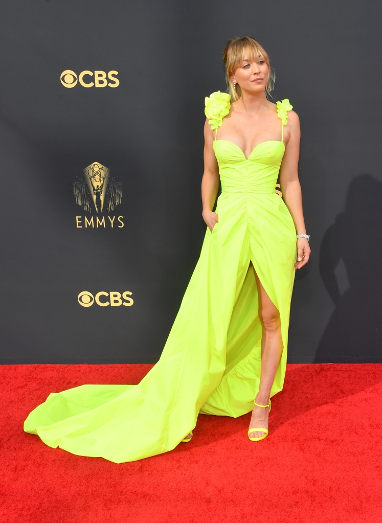 Kaley Cuoco at the 73rd Primetime Emmy Awards held at L.A. Live on September 19, 2021.