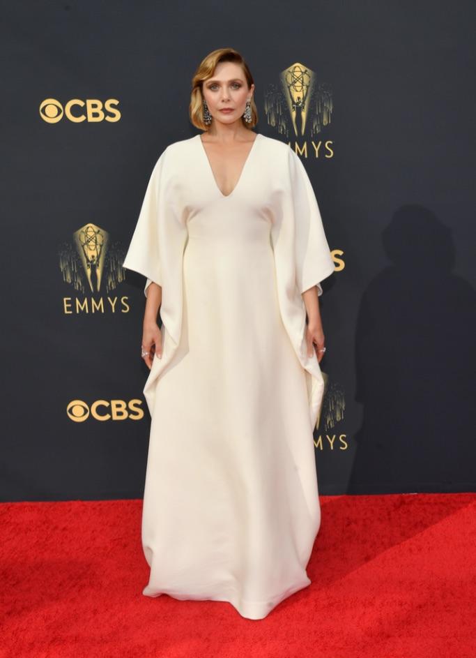 Elizabeth Olsen, The Row, Stuart Weitzman, Emmys 2021