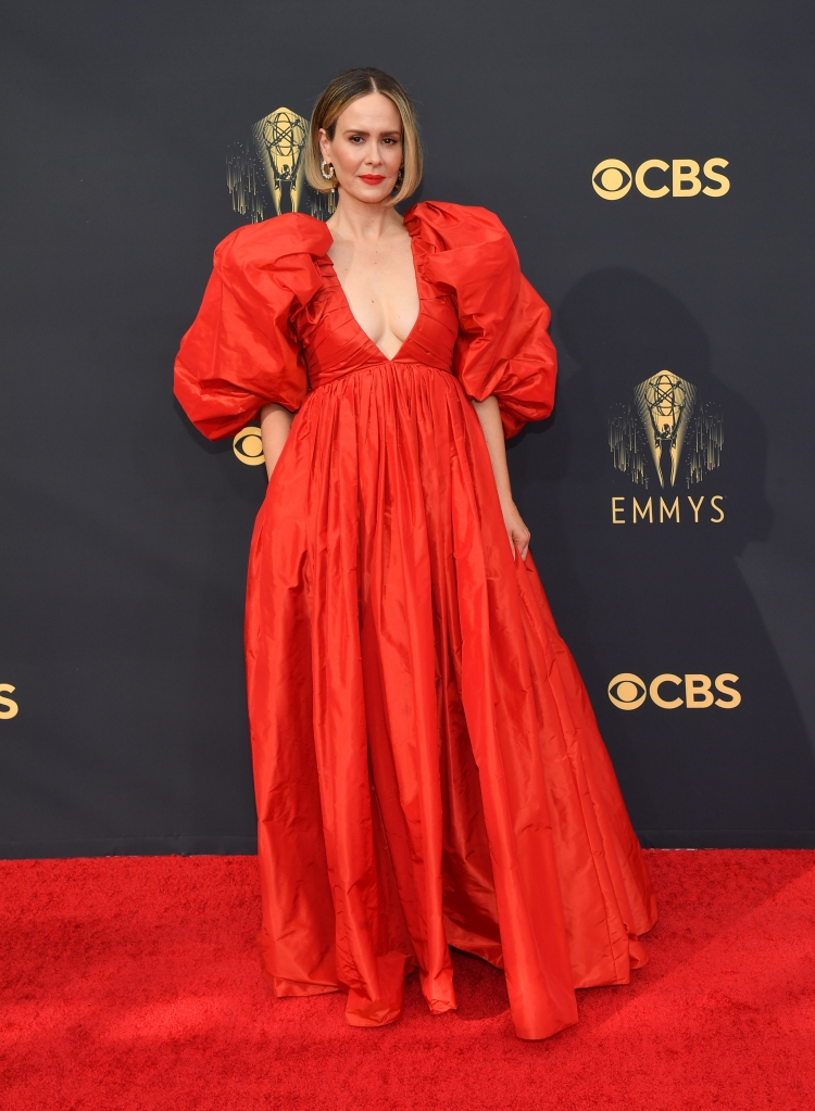 Sarah Paulson at the 73rd Primetime Emmy Awards held at L.A. Live on September 19, 2021.