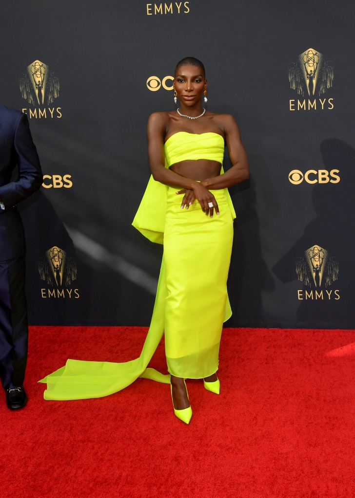Michaela Coel, Emmy Awards, Christopher John Rogers, Le Silla, red carpet, I may destroy you