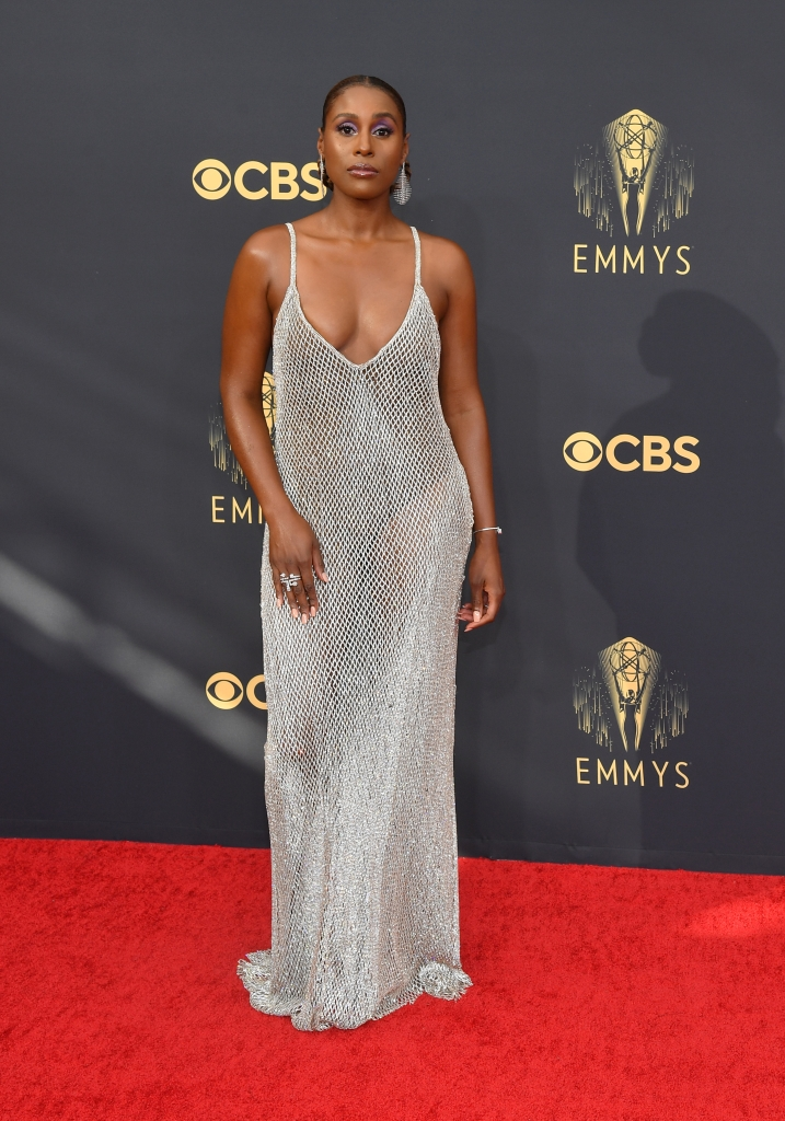 Issa Rae at the 73rd Primetime Emmy Awards held at L.A. Live on September 19, 2021.