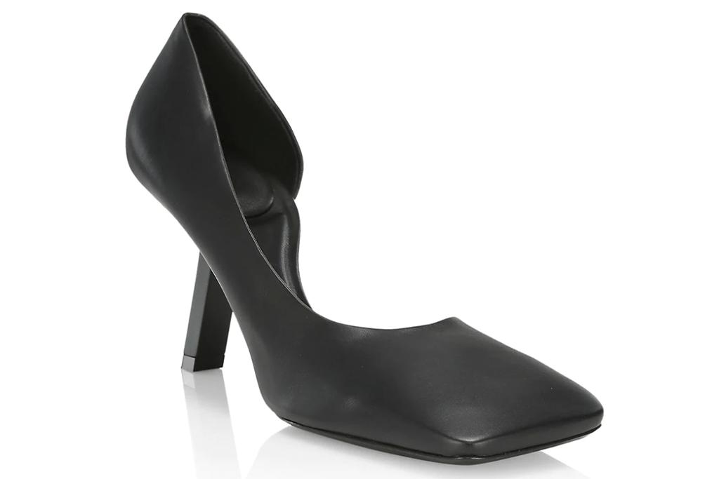 Balenciaga Void d'Orsay Leather Square Toe Pumps