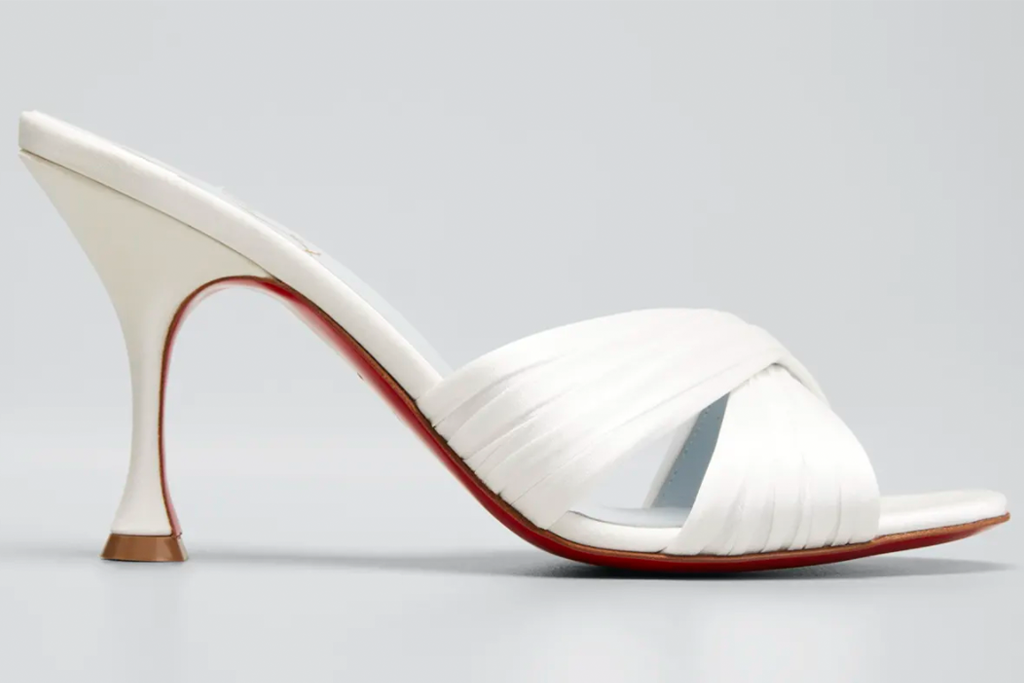 Christian Louboutin Nicol is Back Red Sole Slide High-Heel Sandals