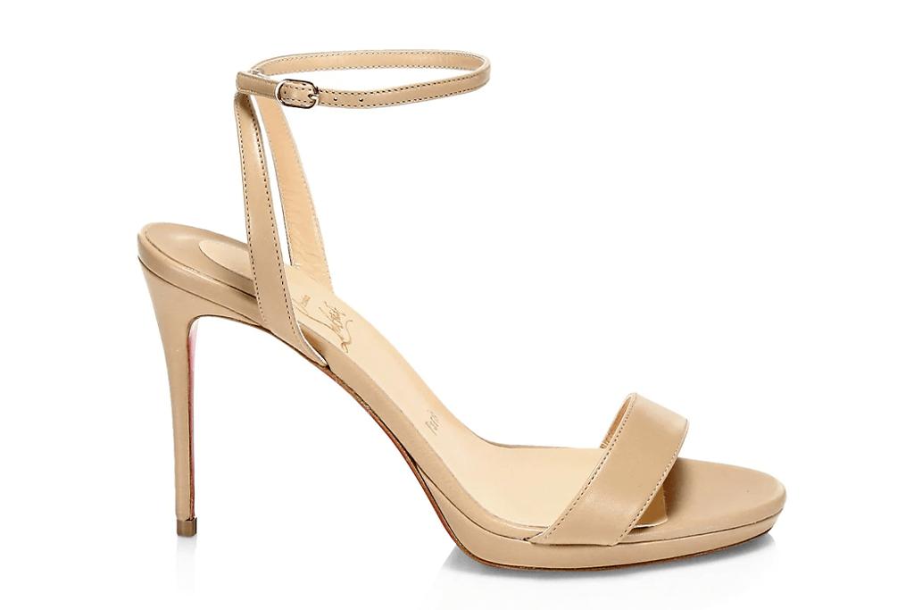 Christian Louboutin Loubi Queen Leather Sandals