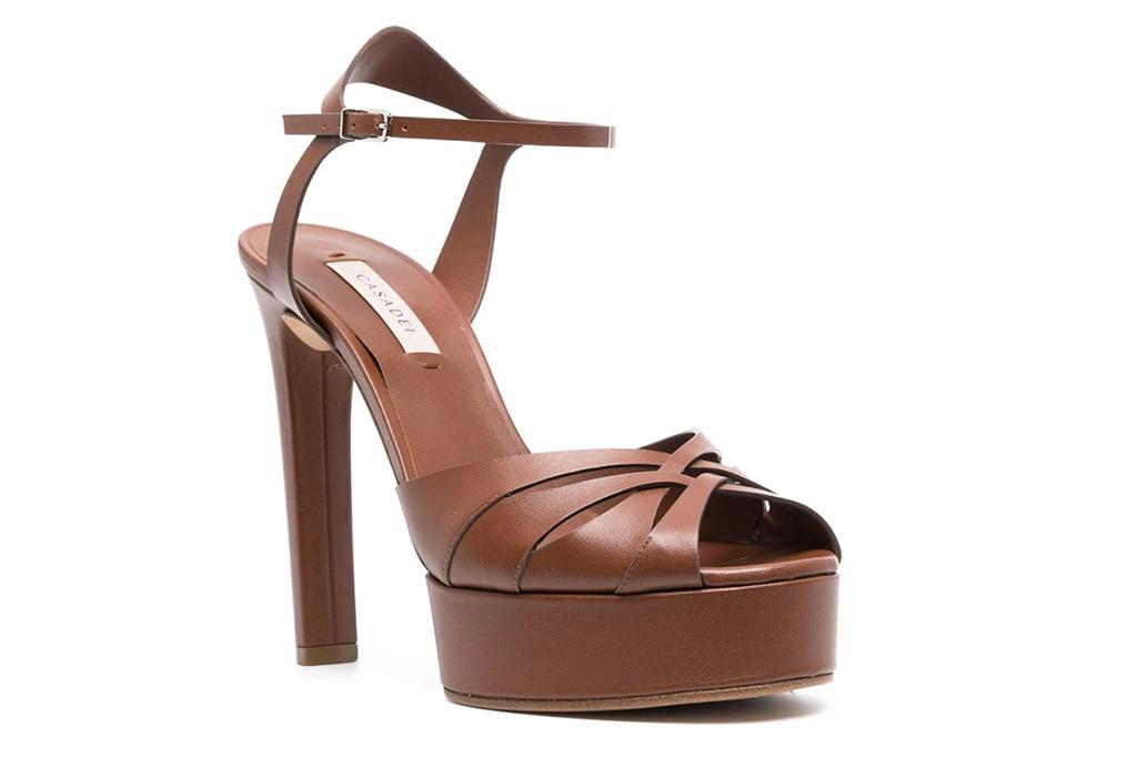 Casadei Floral platform sandals