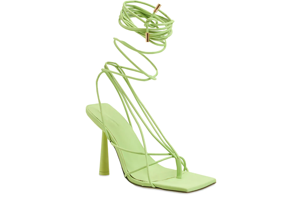 GIA x RHW 100mm Rosie 6 Rubberized Lace-Up Sandals