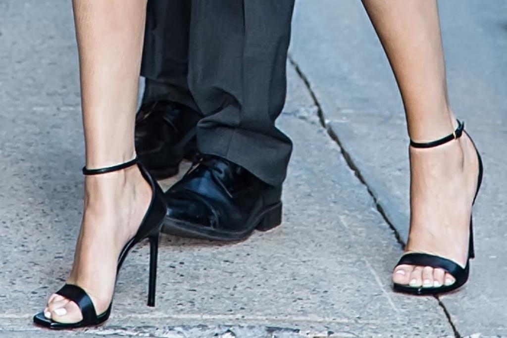 Selena Gomez, ankle strap sandals