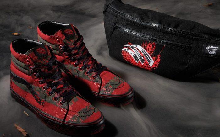 Nightmare on Elm Street, vans horror collection, freddy krueger shoes, bloddy