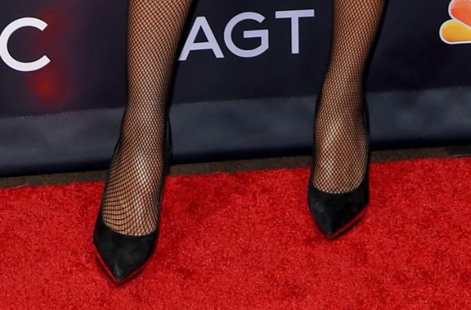 Heidi Klum, AGT, sparkly dress, black pumps