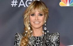 Heidi Klum, AGT, sparkly dress, black