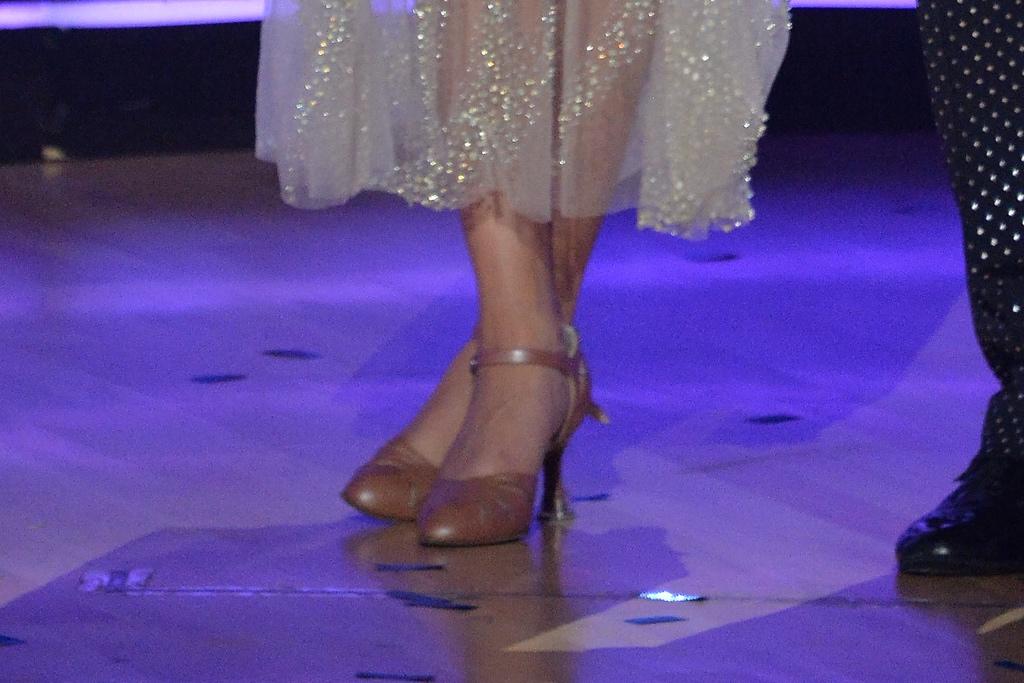 Olivia Jade, Dancing With the Stars, Val Chmerkovskiy, sheer dress, see through dress, brown pumps