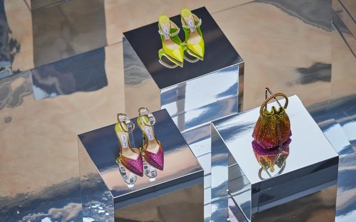 jimmy choo, spring 2022, purses, shoes, milan fashion week