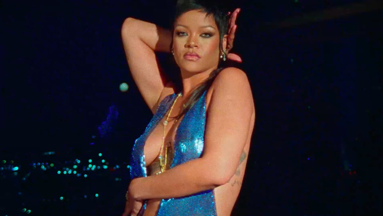 """Rihanna shows off her cheeky side in a sexy teaser video for a new Amazon Prime Video fashion show in which she will unveil her latest Savage X Fenty. In the grainy and artistically shot footage, Rihanna is seen cavorting around in a series of sexy ensembles, revealing her cleavage and derrière in the process. Rihanna also served as executive producer and creative director ofSavage X Fenty Show Vol. 3, which will stream exclusively on Prime Video in more than 240 countries and territories worldwide beginning Friday 24 September, 2021. Now in its third-consecutive year, the highly anticipated fashion experience continues to """"challenge tradition and redefine sexy"""". It will feature an all-star line up of models, actors, performers, and more debuting the latest Savage X Fenty styles, and promises to be a """"visually stunning and epic event that raises the bar yet again with special performances from some of the biggest names in music"""". With sizes ranging from 32–46inbands and A–H in cups (up to 46DDD/42H and XS–3X/S–XXXL), customers can shop the latest collection atAmazon.com/savagex and SavageX.com on September 24. 30 Aug 2021 Pictured: Rihanna shows off her cheeky side in a sexy teaser video for a new Amazon Prime Video fashion show in which she will unveil her latest Savage X Fenty. Photo credit: Savage X Fenty/ MEGA TheMegaAgency.com +1 888 505 6342 (Mega Agency TagID: MEGA782433_003.jpg) [Photo via Mega Agency]"""