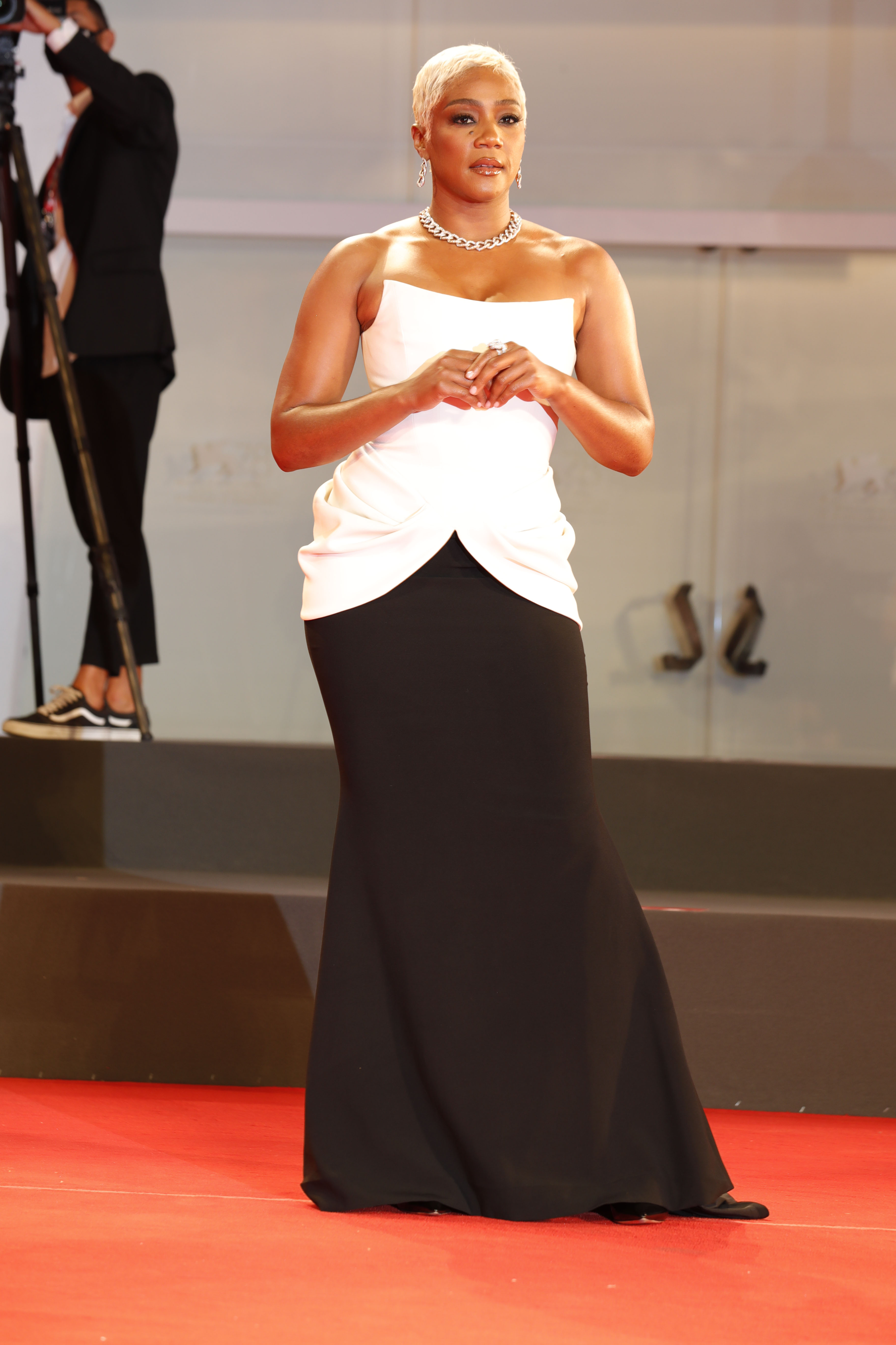 Paul Schrader at The Card Counter Premiere and Opening Ceremony of the 78th Venice International Film Festival in Venice, Italy on September 02, 2021. 02 Sep 2021 Pictured: Tiffany Haddish. Photo credit: GOL/Capital Pictures / MEGA TheMegaAgency.com +1 888 505 6342 (Mega Agency TagID: MEGA783462_015.jpg) [Photo via Mega Agency]