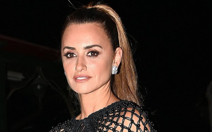 Penelope Cruz arrives at the Yves Saint Laurent Party during the 78th Venice International Film Festival