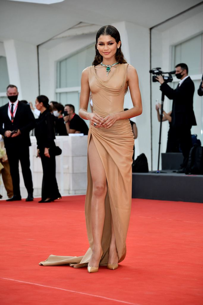 """Zendaya on the red carpet for the film """"Dune"""" at the Venice Film Festival"""