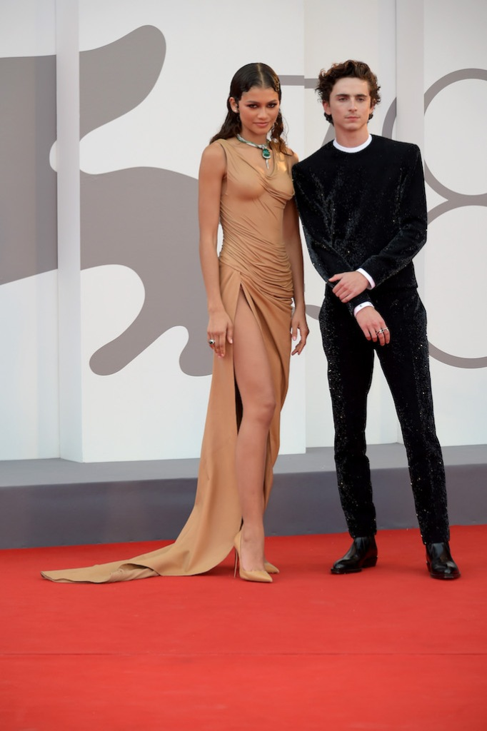 """Zendaya and Timothée Chalamet on the red carpet for the film """"Dune"""" at the Venice Film Festival"""