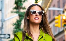 Alessandra Ambrosio is seen in New