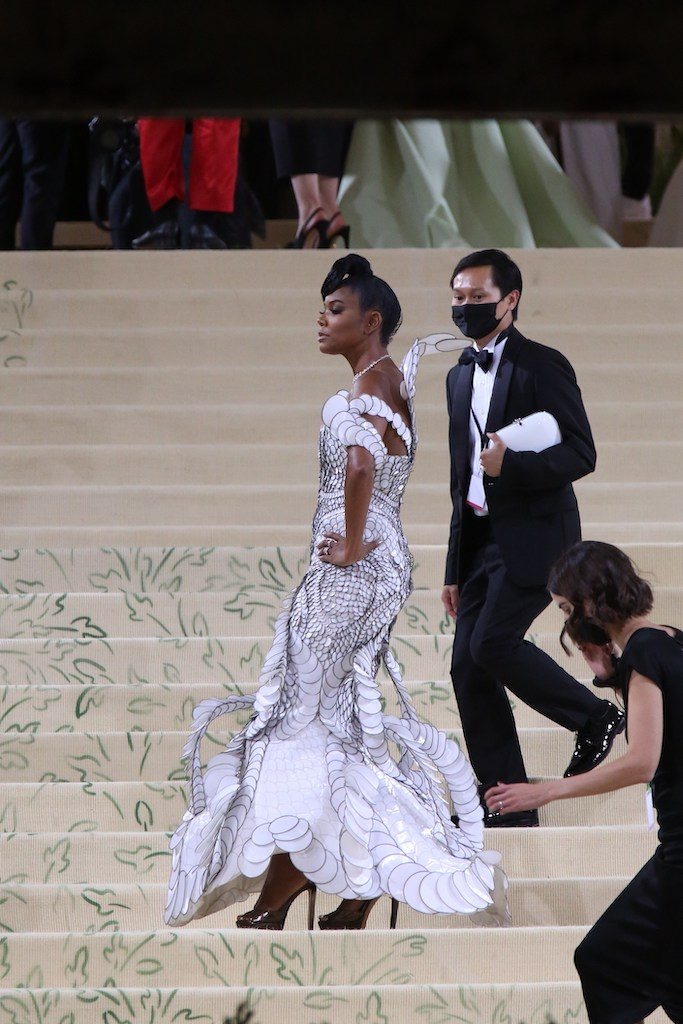 Gabrielle Union attends the 2021 Met Gala.