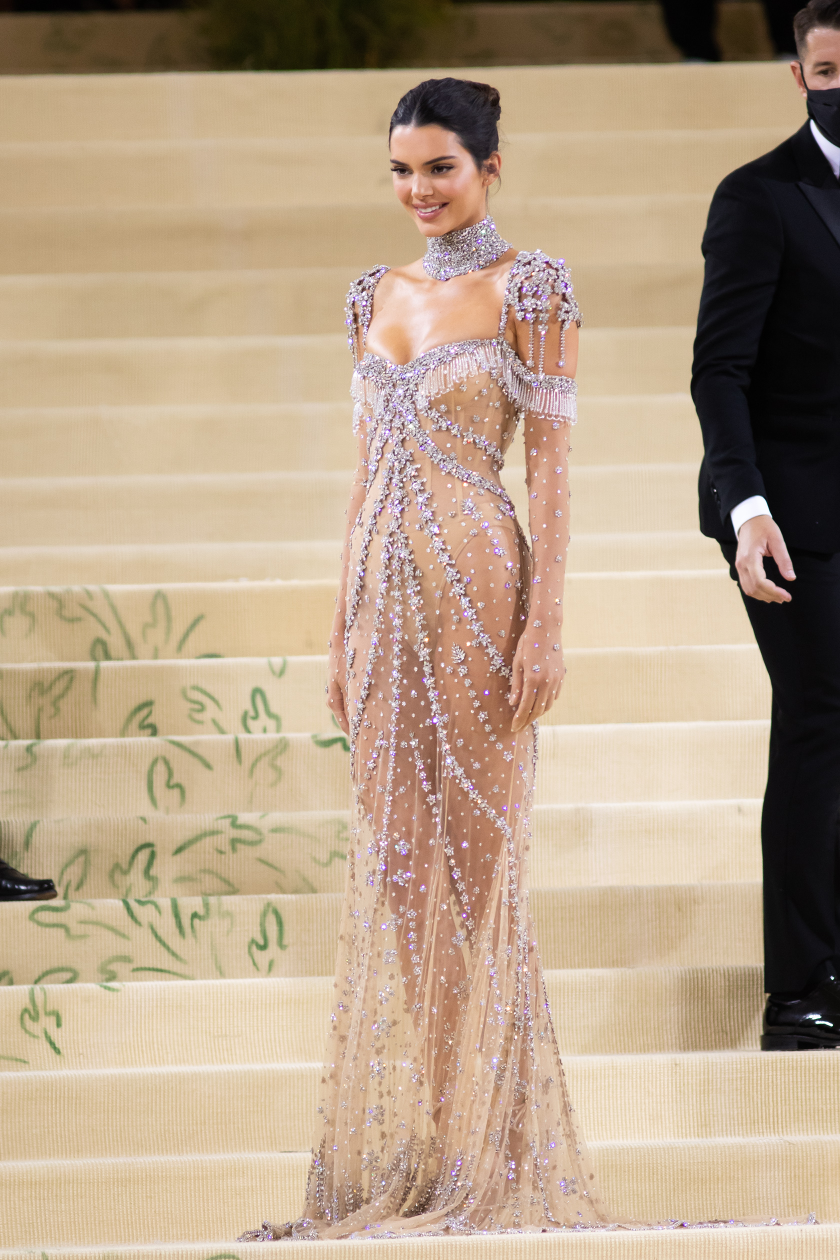 Kendall Jenner, Givenchy, Met Gala 2021, ankle-wrap sandals, thong strap sandals