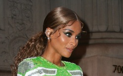 Ciara wore a football-themed gown for