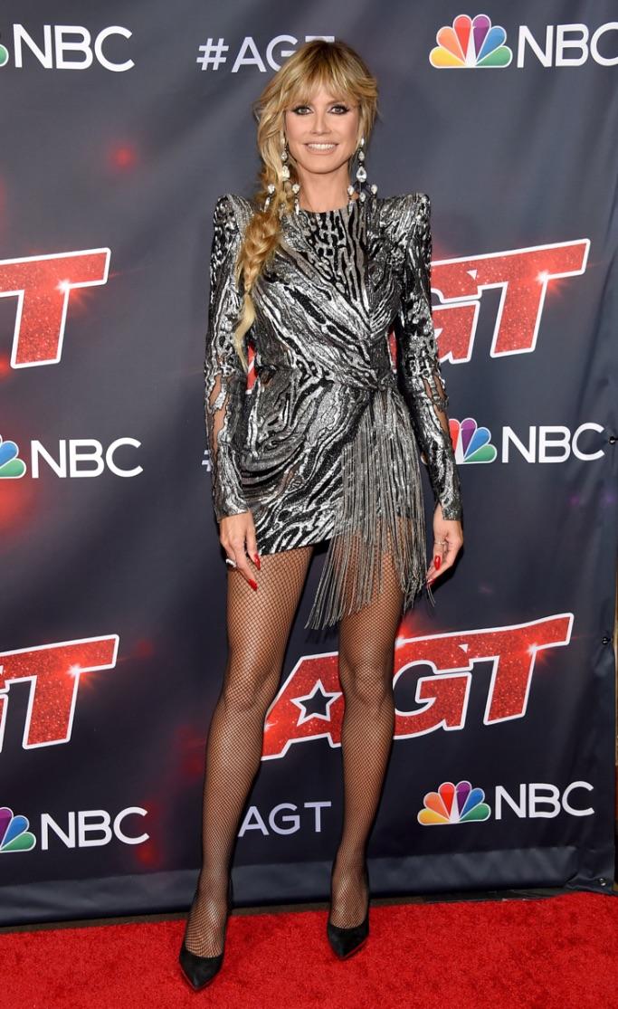 Heidi Klum, America's Got Talent, sparkly dress, black pumps, LA