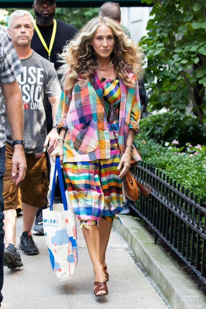 Sarah Jessica Parker, NYC, And Just Like That, plaid