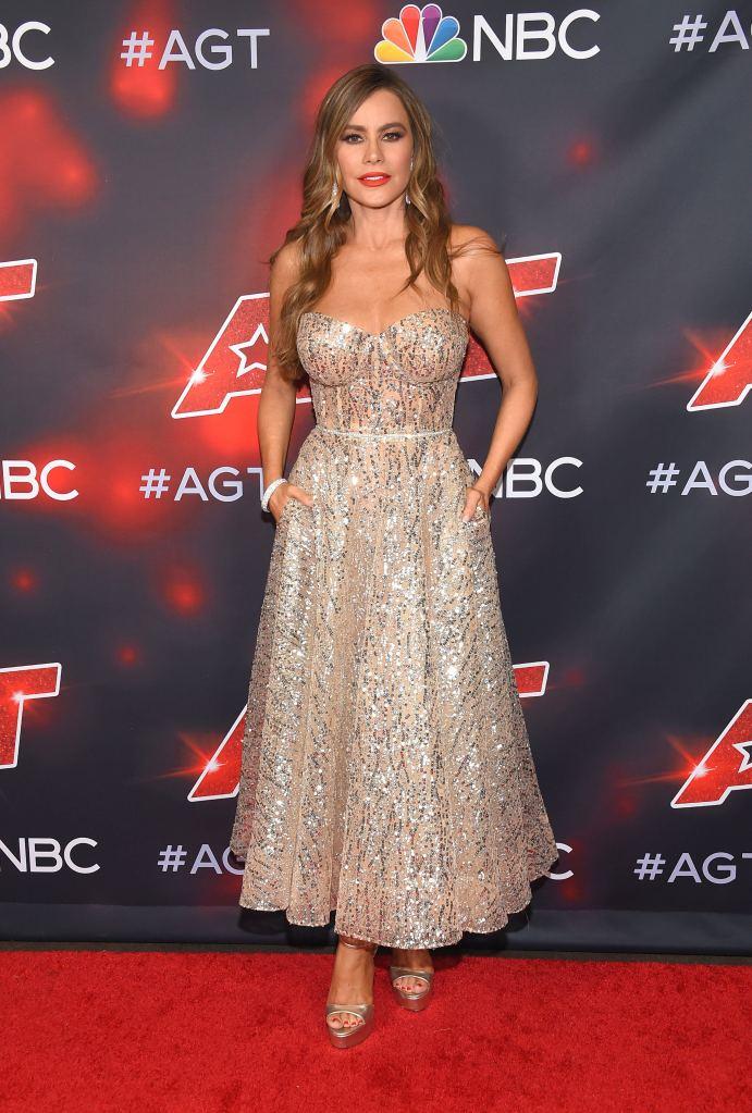 Sofia Vergara, America's Got Talent, gown, platform sandals