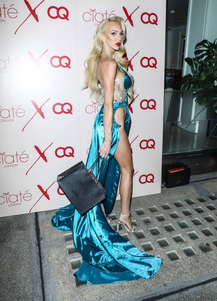 Christine Quinn, Selling Sunset, Ciaté London, sandals, crystal sandals, silk gown