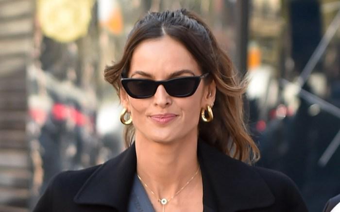Izabel Goulart is seen walking around Paris in the sun