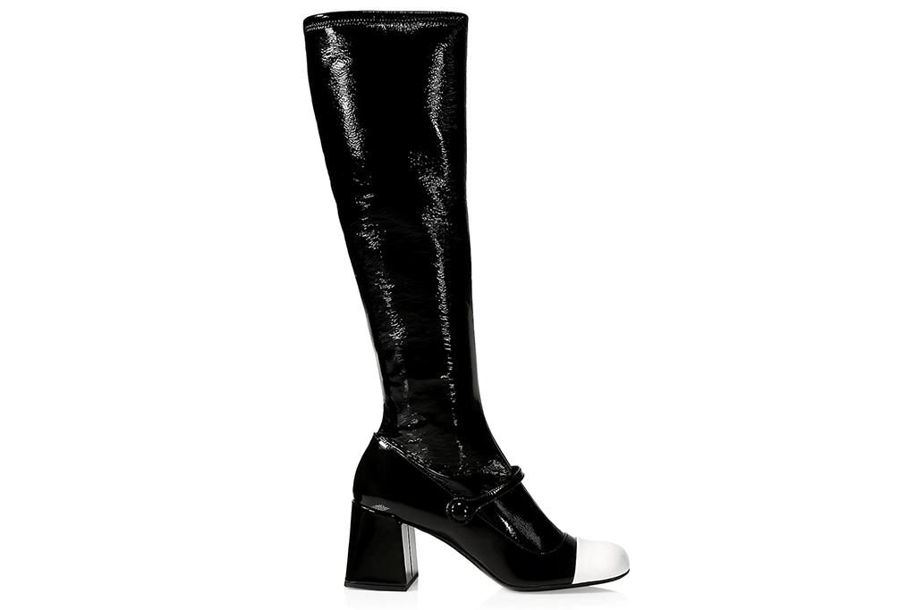 Miu MIu Mary Jane Patent Leather Knee-High Boots