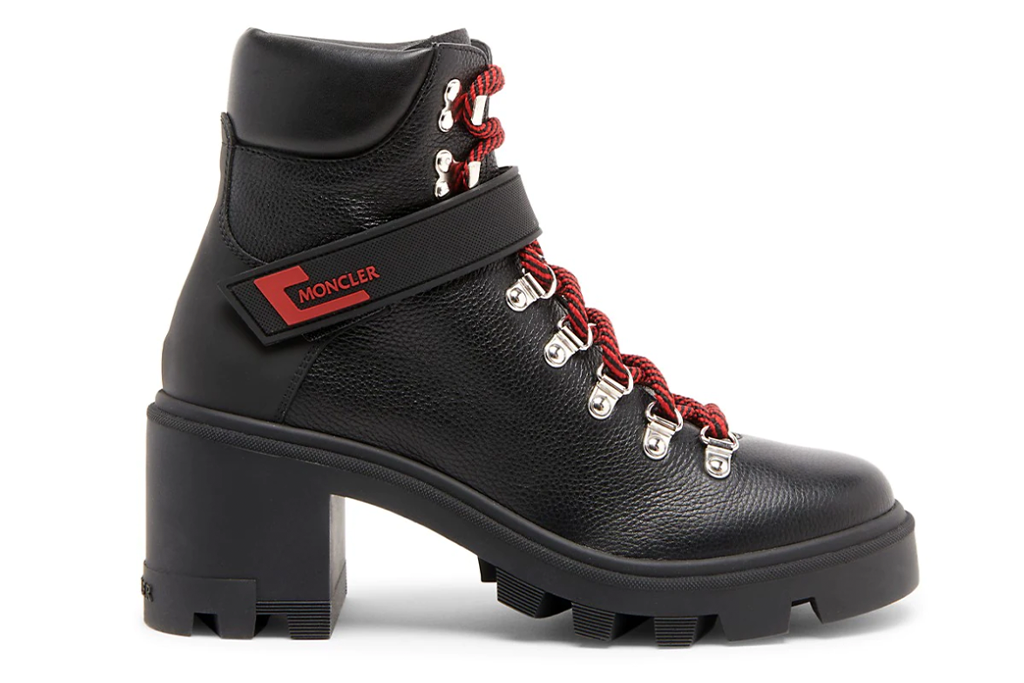 Moncler Carol Leather Ankle Boots