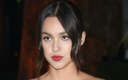 Olivia Rodrigo, Saint Laurent, strapless dress,