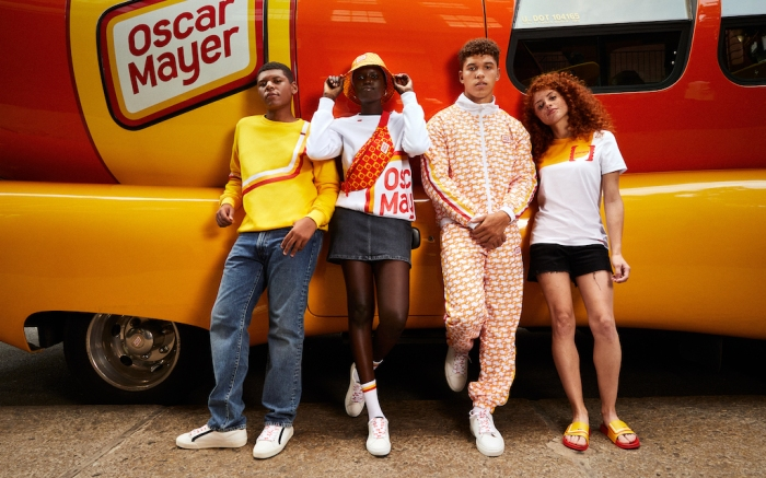 Models wearing the Oscar Mayer Street Meat Collection