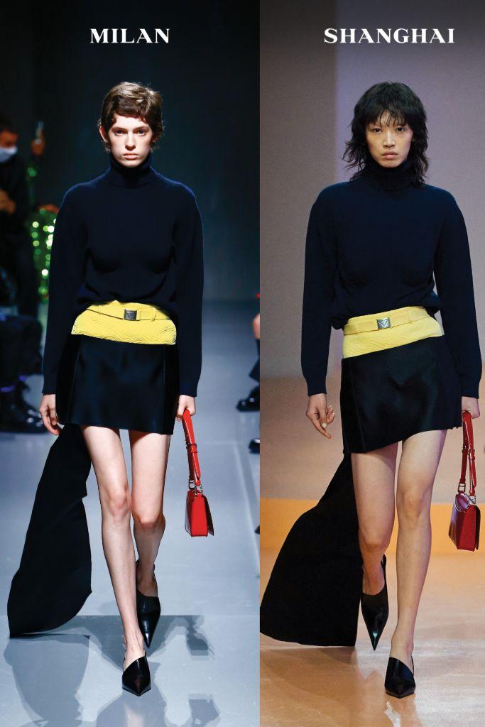 prada, prada spring 2022, spring 2022, mfw, milan fashion week, prada milan fashion week, prada shanghai, raf simons, miuccia prada, fashion, prada shoes, prada fashion