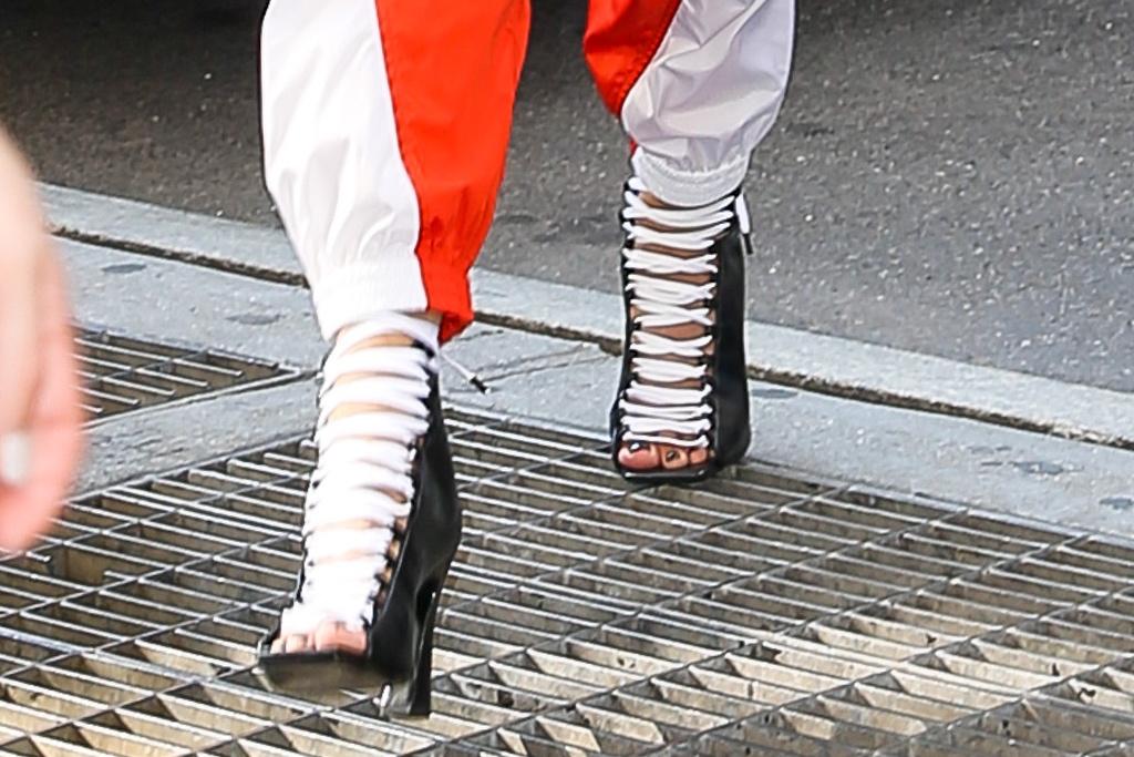 Rita Ora, DSquared2, ankle booties