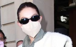Gigi Hadid spotted wearing sheepskin while