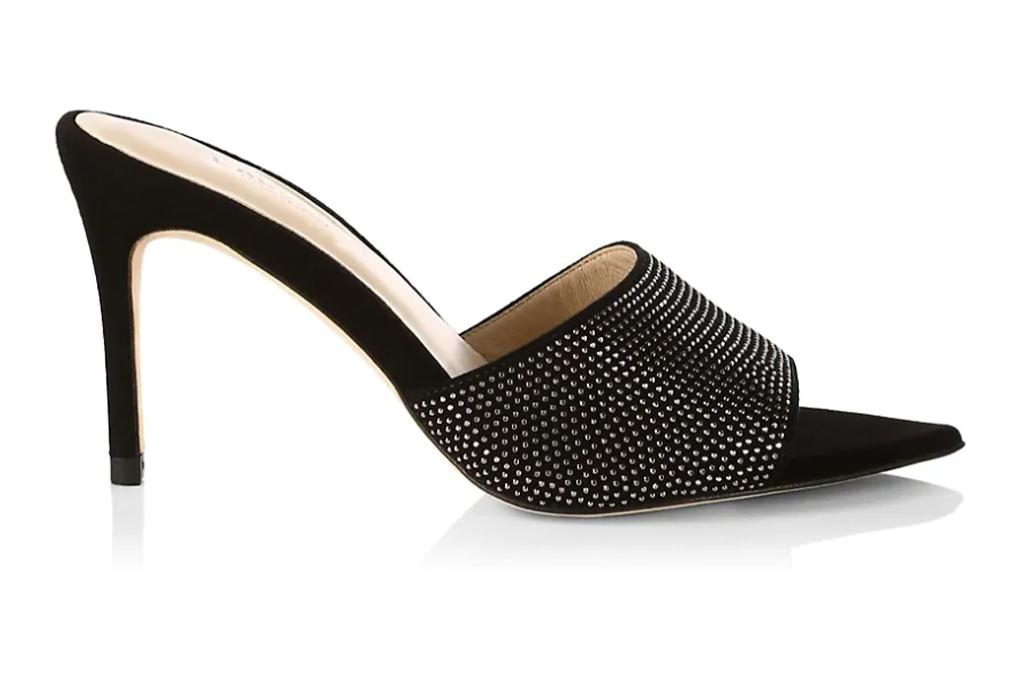 L'AGENCE Roxanne Embellished Mule Sandals