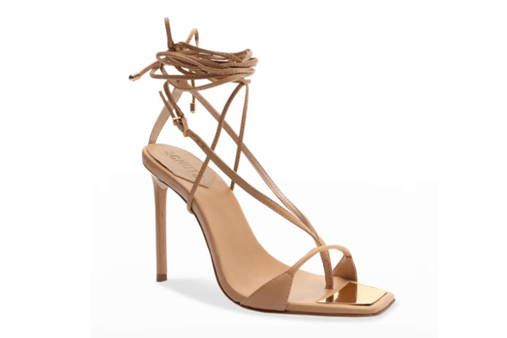 schutz, brown sandals