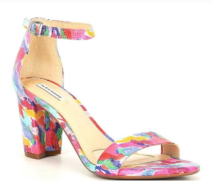 Alex Marie Halmar Multi Ankle Strap Leather Block Heel Sandals
