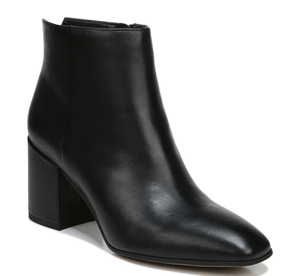 Franco Sarto, black ankle booties