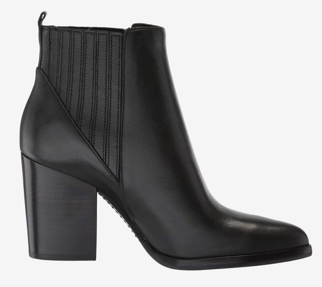 Marc Fisher, black ankle booties