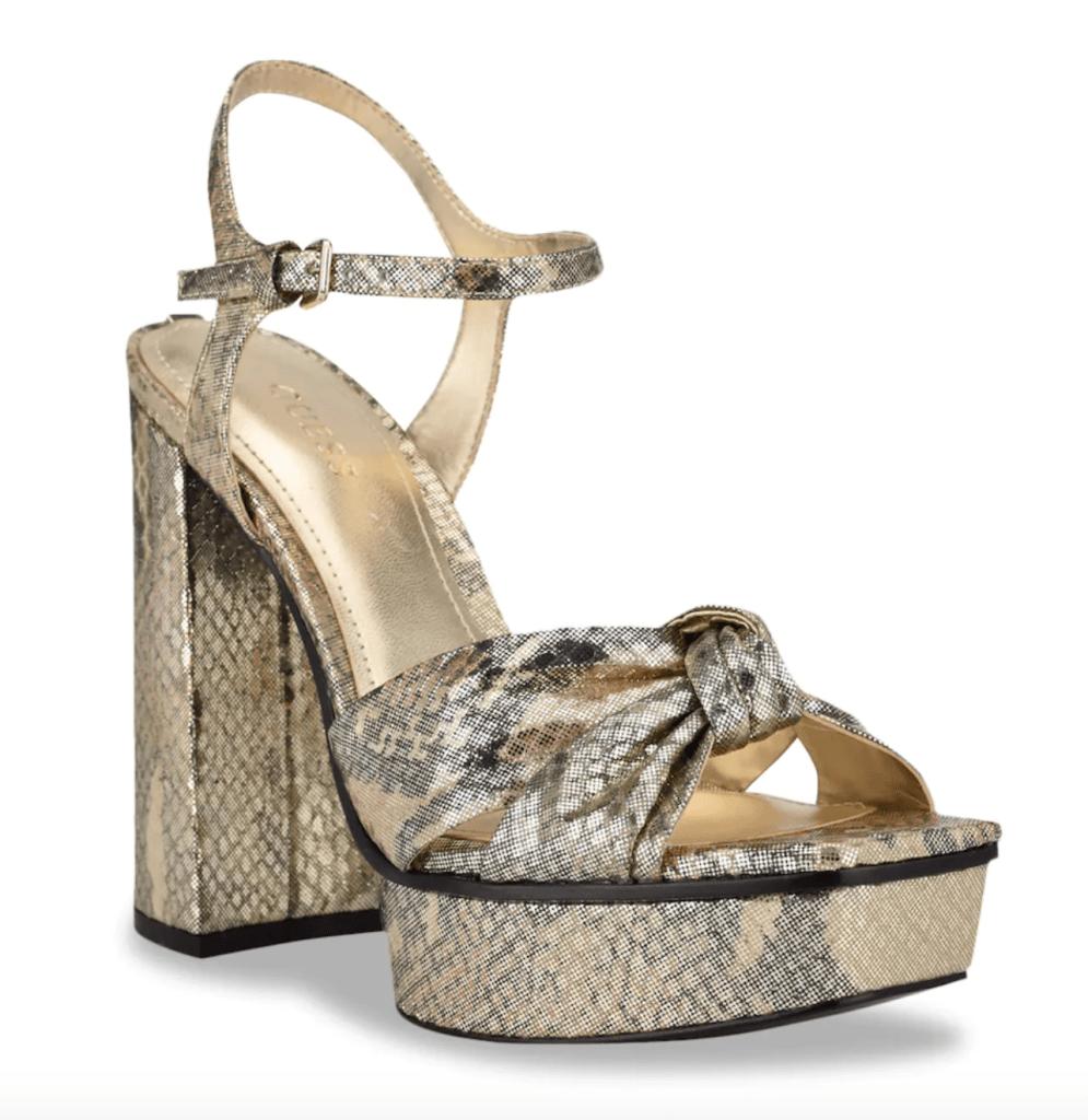 Guess, platform sandals, gold sandals