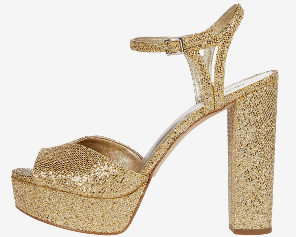 Michael Michael Kors, platform sandals, gold sandals