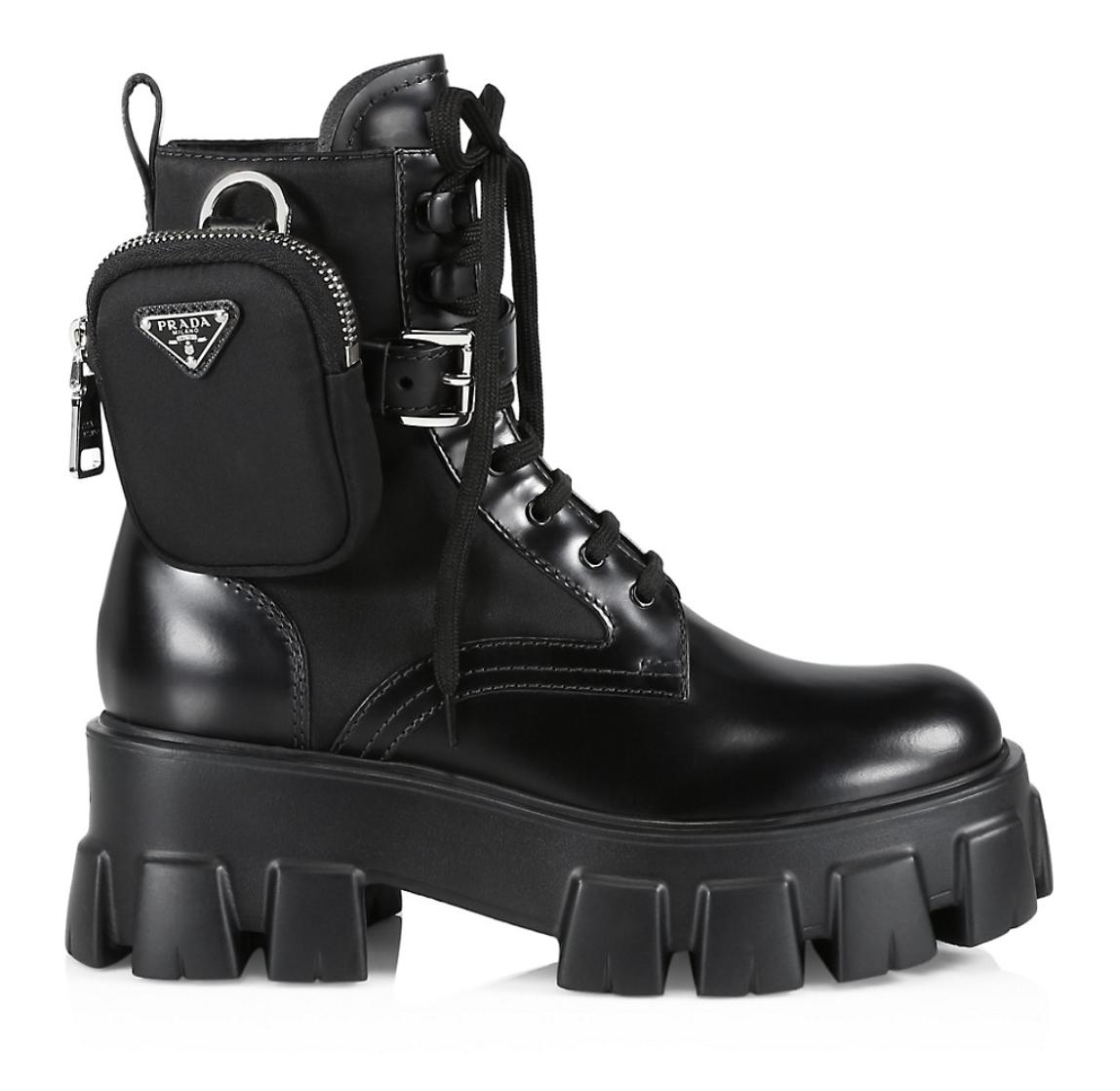 Prada, lug-sole boots