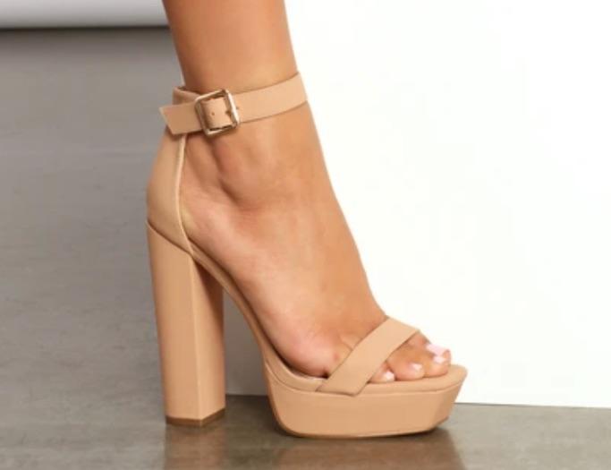 All that glam square toe block platform sandal