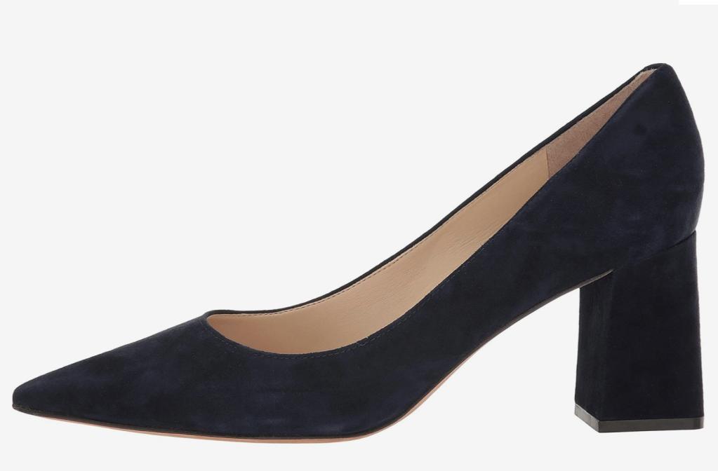 navy pumps, heels, marc fisher