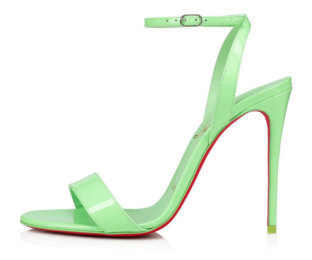 Christian Louboutin, Beyonce, sandals, green sandals